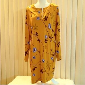 NWT DVF Reina Yellow Floral Dress Size XL